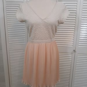Anthro pins needles chiffon dress medium *C1